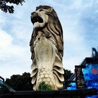 Photo taken at Sentosa Merlion by Wee Heng S. on 4/14/2012