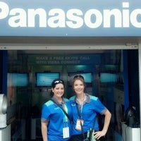 Photo taken at Panasonic Skype Station - US Open by Lisa J. on 9/3/2012