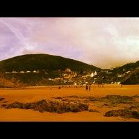Photo taken at Tresaith Beach by Samantha E. on 6/5/2012