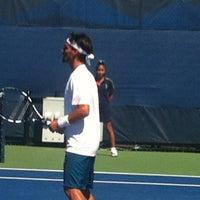 Photo taken at Court 16 - USTA Billie Jean King National Tennis Center by Sandy B. on 8/29/2012
