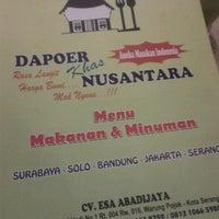 Photo taken at Dapoer Nusantara by Desi A. on 6/19/2012