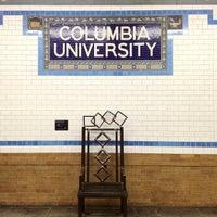 Photo taken at MTA Subway - 116th St/Columbia University (1) by Jeffrey P. on 2/24/2012