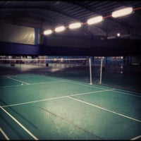 Photo taken at New Vision Badminton Academy by Edwin K. on 8/23/2012