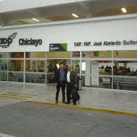 Photo taken at Aeropuerto Internacional Capitán FAP José A. Quiñones González (CIX) by Max V. on 9/2/2012