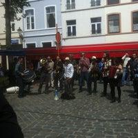 Photo taken at Parvis Saint-Pierre / Sint-Pietersvoorplein by Aurelie C. on 6/17/2012