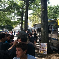 Photo taken at Red Hook Ballfield Food Vendors by Grant S. on 8/26/2012