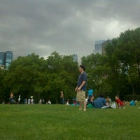 Photo taken at Sheep Meadow by Madison C. on 5/21/2011