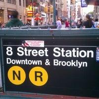 Photo taken at MTA Subway - 8th St/NYU (R/W) by Janice N. on 9/18/2011