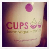 Photo taken at CUPS Frozen Yogurt by Diana A. on 6/1/2012