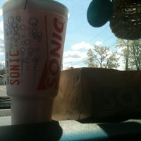 Photo taken at SONIC Drive-In by Jade M. on 4/2/2012