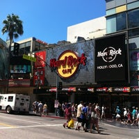 Photo taken at Hard Rock Cafe Hollywood on Hollywood Blvd by Luca Z. on 8/14/2012