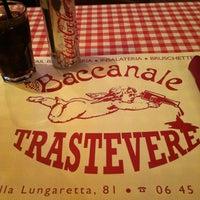 Photo taken at Baccanale Trastevere by Carmen G. on 11/10/2011