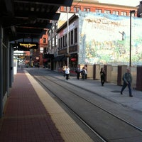Photo taken at Warehouse District/Hennepin Ave LRT Station by Cole K. on 5/15/2012