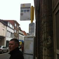 Photo taken at Halte Maria Theresiastraat by Kristof D. on 3/9/2012