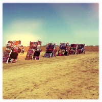Photo taken at Cadillac Ranch by Richard A. on 9/2/2011