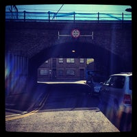 Photo taken at London Fields Overground Station (LOF) by Adriaan P. on 6/13/2012