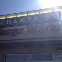 Photo taken at Champa St. Burger Works by Michelle on 3/14/2012