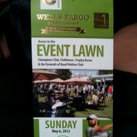 Photo taken at Wells Fargo Championship by Veronica C. on 5/6/2012