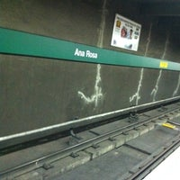 Photo taken at Ana Rosa Station (Metrô) by Ana F. on 9/28/2011