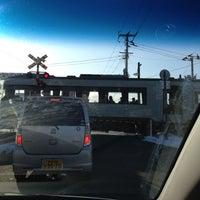 Photo taken at 寺前踏切 by Pirai P. on 2/12/2012