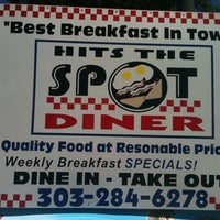 Photo taken at Hits The Spot Diner by Bri-cycle on 6/14/2011