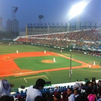 Photo taken at Mokdong Baseball Stadium by hong j. on 4/19/2012