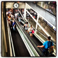 Photo taken at South Bus Station of Madrid by Manu A. on 7/20/2012