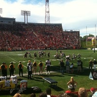 Photo taken at McMahon Stadium by Mark H. on 9/5/2011