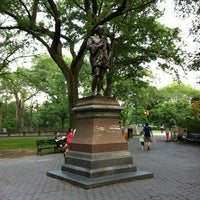 Photo taken at William Shakespeare Statue by Mike F. on 6/10/2011