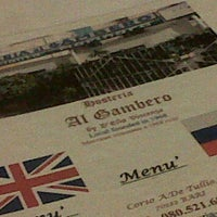 Photo taken at Osteria al Gambero by gian paolo c. on 10/18/2011