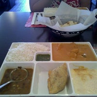 Photo taken at Saffron Indian Cuisine by Travis N. on 9/11/2011