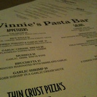 Photo taken at Vinnie's Pasta Bar by Dave K. on 5/25/2012