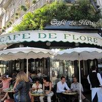 Photo taken at Café de Flore by Jiny K. on 2/5/2012