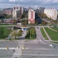 Photo taken at Moskovská (bus, trolleybus) by Evka G. on 4/20/2012