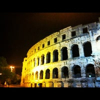 Photo taken at Arena Pula | The Pula Amphitheater by Anastasia S. on 4/22/2012
