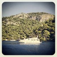 Photo taken at Kleopatra Koyu by Deniz G. on 8/5/2012