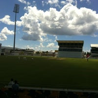 Photo taken at Kensington Oval by Jonathan C. on 2/18/2012