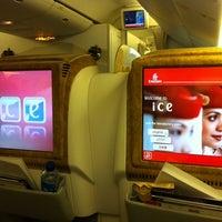 Photo taken at Emirates Flight EK316 (DXB-KIX) by Prasanth on 10/1/2011