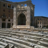 Photo taken at Piazza Sant'Oronzo by Daniele L. on 6/27/2012