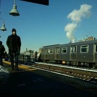 Photo taken at MTA Subway - Marcy Ave (J/M/Z) by Brennan K. on 2/8/2011