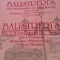 Photo taken at Balistreri's Italian American Ristorante by Kjosy on 9/8/2011