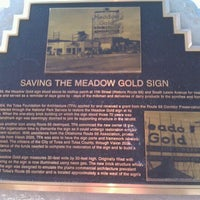 Photo taken at Meadow Gold Sign by Paula D. on 1/30/2012