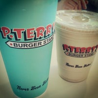 Photo taken at P. Terry's Burger Stand by Erik S. on 4/5/2012