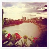 Photo taken at Pont de Levallois by Baaadgos on 6/14/2012