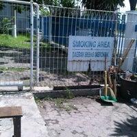 Photo taken at Smoking Area @ PT. Aneka Gas Industri V Jatim by David T. on 4/30/2012