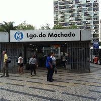 Photo taken at MetrôRio - Estação Largo do Machado by zerosa on 6/28/2012