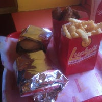 Photo taken at Lucky's Famous Burgers by Trevor H. on 3/18/2012