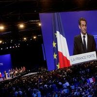 Photo taken at Grande Halle d'Auvergne by Nicolas Sarkozy on 4/29/2012