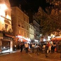 Photo taken at Place de la Contrescarpe by Pierre W. on 8/25/2012