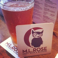 Photo taken at M.L.Rose Craft Beer & Burgers by Cory C. on 3/21/2012